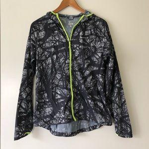 Nike Black Grey Marble Print Windbreaker Jacket
